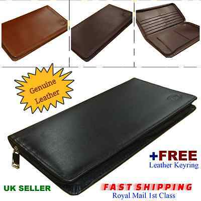 Travel Wallet Zip Around Passport Boarding Pass Ticket Currency Credit Cards