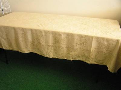 Large Gold Yellow Damask Rectangle Tablecloth 205cm x 159