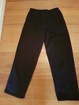 Track N Field Navy Fleece Track Pants Size 14 Poly Cotton
