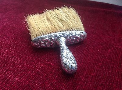 Solid Silver Horsehair brush. American Hallmarked.