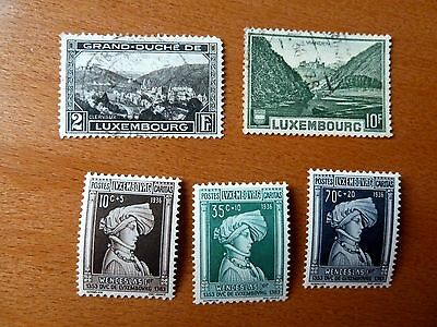 Lot Timbres Luxembourg Neuf* Et Oblitere A Voir