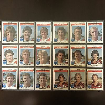 1980 Rugby League Trading Cards Full Set