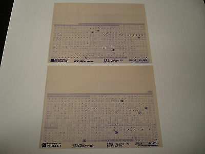 Peugeot 605 Upto 1994 Parts Microfiche Full Set Of 2 - Dated December 1996
