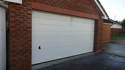HORMANN DOUBLE ELECTRIC GARAGE DOOR - with Opener, remote, rail & extras...