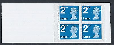 """GREAT BRITAIN. 2016 """"Booklet of 4 x 2nd Class Large, Stamps (THIN 2nd TYPE) MNH"""