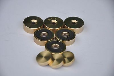 Carol Brass Trumpet Trim Kit Light Caps. KGUBrass. Raw Brass. TKLR105