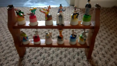 Painted Pewter Clowns Thimble Collection - Cavalcade of Clowns TCC