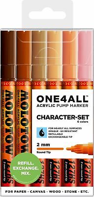MOLOTOW - ONE4ALL Acrylic Marker 127 HS   CHARACTER - SET