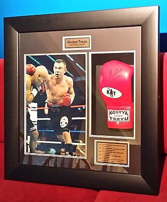 Kostya Tszyu Framed Print and Signed Glove (with Certificate of Authenticity)