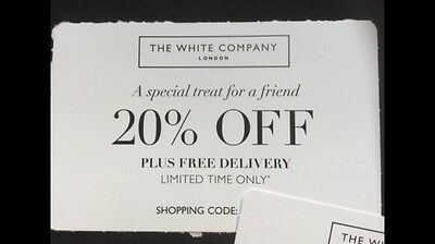 THE WHITE COMPANY 20% Off Voucher Expires 23/12 (sold for New Beginnings Horses)