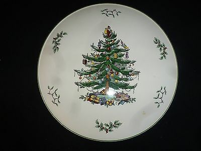 Spode - Christmas Tree Pattern - Large Flat Cake / Serving Plate