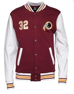 Nfl American Football Washington Redskins Reader Fleece Letterman Jacket M
