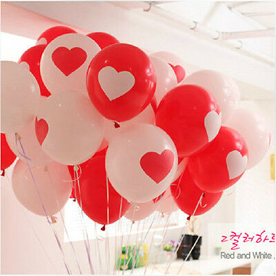 5x Heart shape Love You mix color Latex Balloon Wedding Birthday Valentine's day