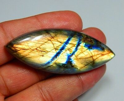 104Ct Top Quality Natural Multi Fire Labradorite Marquise Cabochon Gemstone K181
