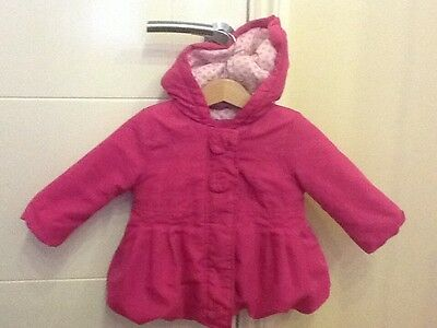 baby girl pink winter coat John Lewis 6-9 months, EUC