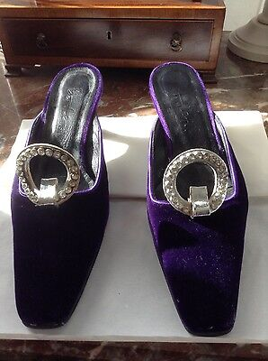 Diamond encrusted silver shoes buckle clips 1960s
