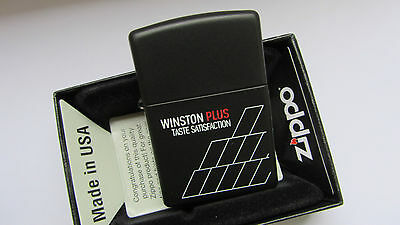New Zippo Winston In Matte Black - Very Limited Edition !