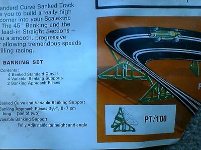 Tri-ang SCALEXTRIC Classic PT97 Speed Banking Set (PT98, PT99R, PT99L, PT100)