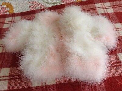 Pink & White Shrug soft swansdown perfect for a little Princess age 2 - 4