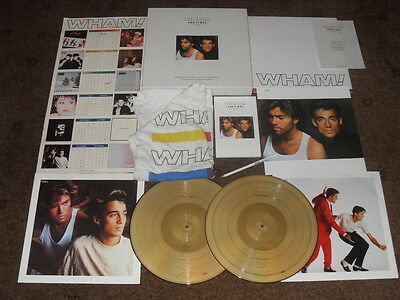 Wham The Final Boxset Used Complete With T Shirt, Pencil, Records, Calendar