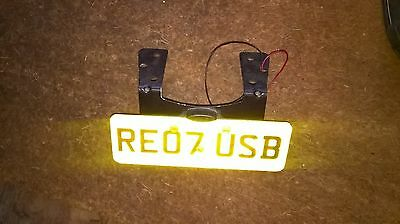 Motorcycle motorbike tail tidy R&G little LED number plate light