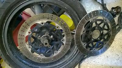 Kawasaki ZX6R front wheel and discs F-1286 for tubeless