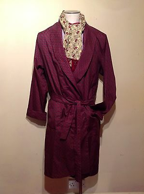 Vintage Sammy Paisley Dressing Gown/ Smoking Jacket. 40-42 Chest (M)