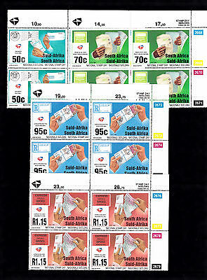 South Africa 1994 Stamp Day Fmnh Control Blocks
