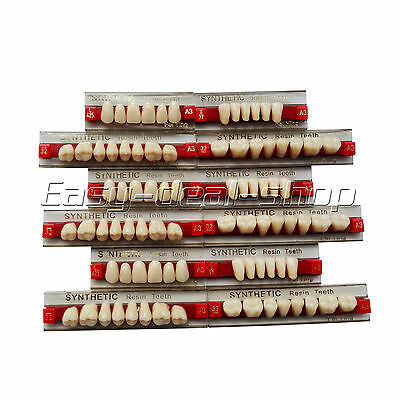 3 Set of 84*1 Acrylic Resin Denture Teeth Color A3 Upper Lower Shade Dental