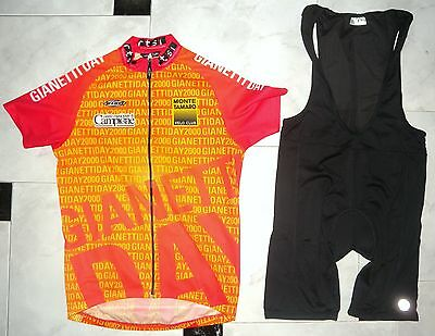 Gianneti day Race,Cycling Jersey & Bib Shorts,set 2P, XL Adults ,made in Italy