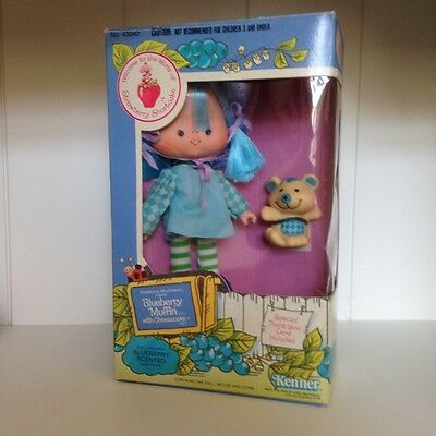 Vintage 1982 Strawberry Shortcake Doll Blueberry Muffin Boxed