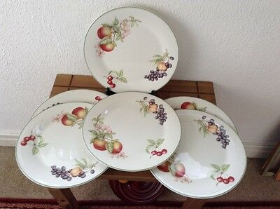 MARKS and SPENCER ASHBERRY  DINNER PLATES x 6 vgc