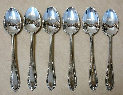 Set Of 6 Vintage Silver Plated Teaspoons