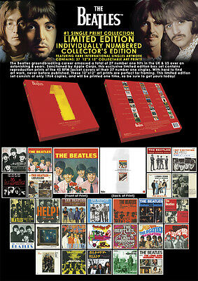The Beatles - Number 1 Limited Edition Art Print Box Set