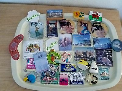 Job lot collection of old fridge magnets