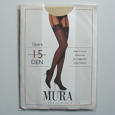 Stockings. Bas MURA 15 den coloris Minuet. Taille 4.