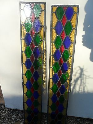 Stained Glass Windows X2 Excellent Condition
