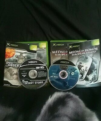 Conflict desert storm and medal of honor xbox game