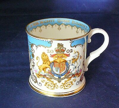 THE ROYAL COLLECTION China 2002 COMMEMORATIVE MUG - THE QUEEN'S GOLDEN JUBILEE