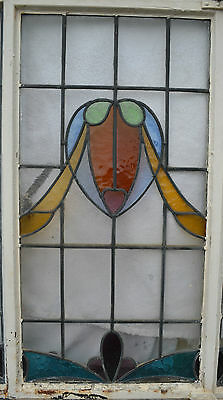 2 x RESTORED art deco leaded light stained glass window panels R205. DELIVERY!!!