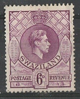 1938 SWAZILAND 6d DEFINITIVE SG 34  F/USED