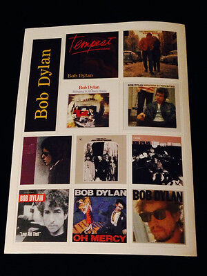 Bob Dylan Album Cover Sticker Sheet-From Tempest-Mint-Unused