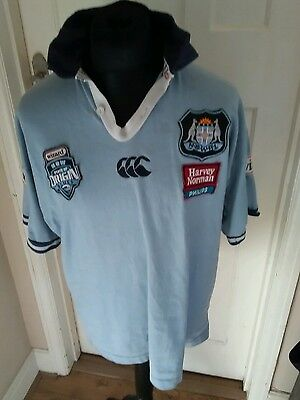 Vintage NSW New South Wales Rugby League shirt LARGE