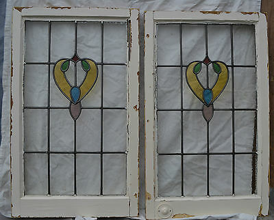 2 x leaded light stained glass window. R427. WORLDWIDE DELIVERY!!!