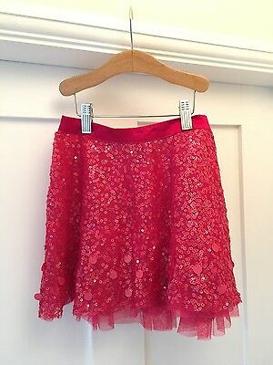 Girls Gap Kids Tutu Party Skirt Sequins S 6-7 years Raspberry Pink