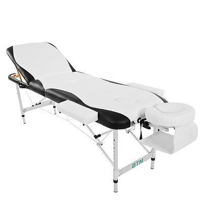Deluxe Massage Table - White / Black - Mint Condition - Free UK Shipping