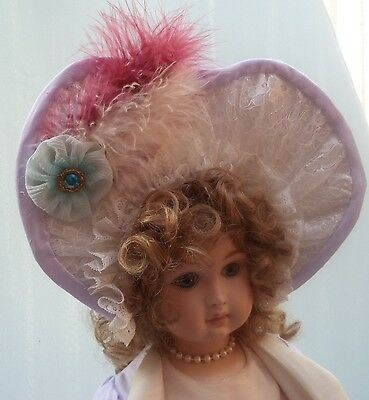 "A French Style  Dress Jacket And Hat For A 20""/ 21"" Reproduction Or Antique Doll"