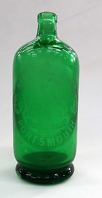 GREEN MUMBY PORTSMOUTH SODA SYPHON BOTTLE. 'appointemt to HM the King'