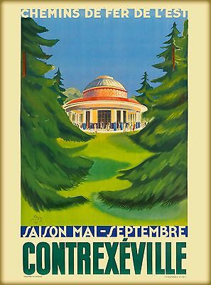 Contrexéville France French   Europe Travel Advertisement Poster