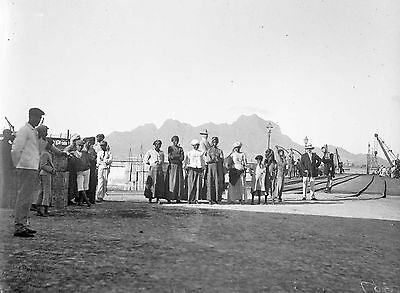 PHOTOGRAPHIC GLASS NEGATIVE MISSIONARIES AFRICA c1912 RARE AND VERY NICE IMAGE!